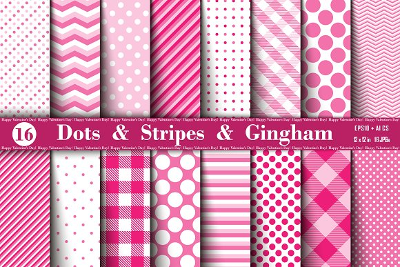 Polka Dots, Gingham and Stripes