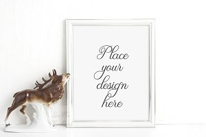Framed print mockup frame mock up
