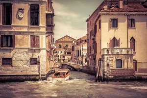 Traditional view of street in Venice