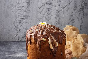 Traditional Easter cake with topping