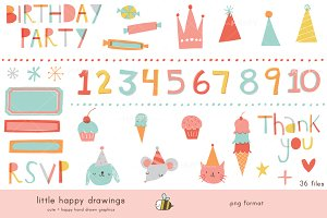 Bright Birthday | Clip Art