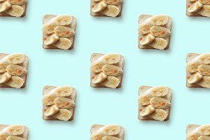 sandwiches with banana, pattern