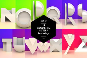 Set of 13 Geometric Letters N-Z