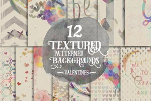 Textured Valentines Digital Papers