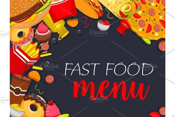 Fast Food Vector Menu Poster