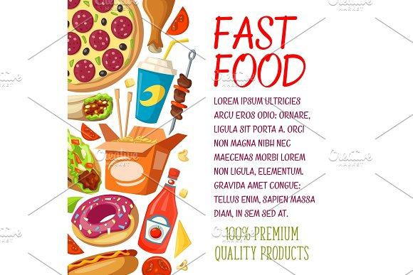 Fast Food Restaurant Menu Vector Poster