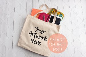 Canvas Tote Bag Mockup (5243)