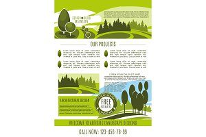Vector poster for green landscape design company