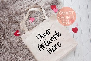 Valentines Day Tote Bag Mockup(6237)