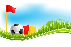 Vector background for football soccer sport
