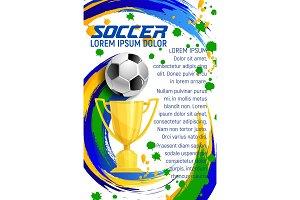 Vector poster for soccer sport football game