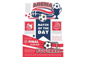 Vector poster for football soccer match