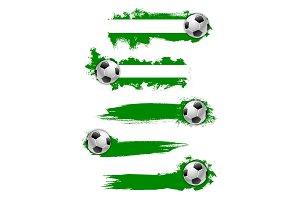 Vector football soccer ball icon or banner
