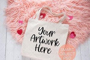 Valentines Tote Bag Mockup (6246)