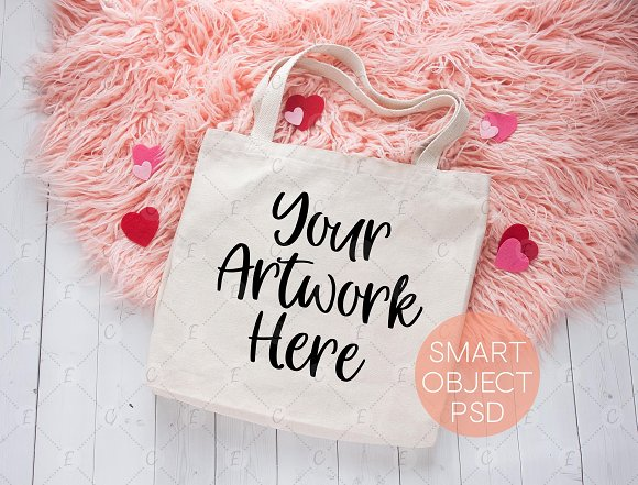 Valentines Tote Bag Mockup