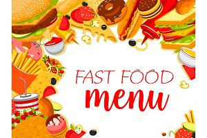 Vector fast food restaurant menu poster