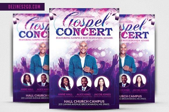 Gospel Concert And Church Flyer Temp