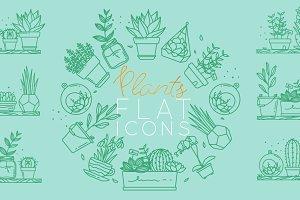 Plants Flat Icons