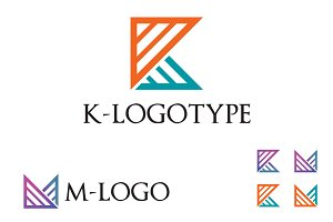 K - M Letter Abstract Business Logo