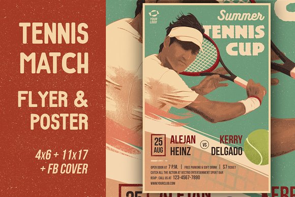 Tennis cup flyer poster flyer templates creative market tennis cup flyer poster flyers fandeluxe Gallery