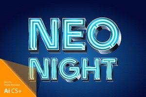 Realistic vector neon alphabet 1