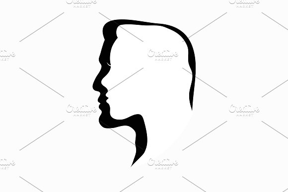 Male and female. Profile. - Illustrations