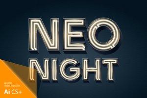 Realistic vector neon alphabet blc