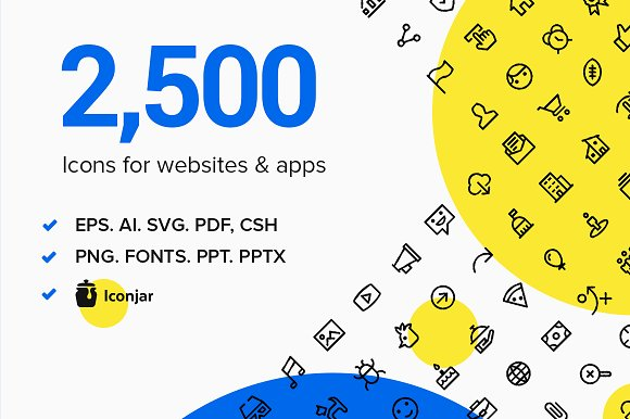 2 500 Line And Solid Icons