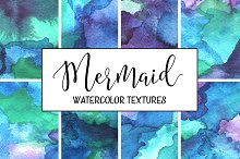 Mermaid Watercolor Backgrounds