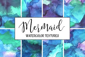 Mermaid Watercolor Backgrounds