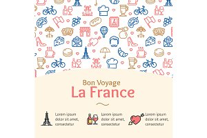 France Travel Concept Infographics