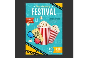 Cinema Movie Festival Placard Banner