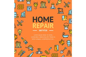 Home Repair Round  Concept
