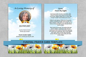 Funeral Prayer Card Template-V06