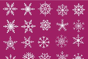 25 Vector Snowflakes