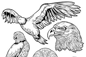 Eagle Tattoo Set