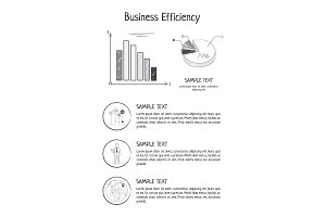 Business Efficiency Statistics Vector Illustration