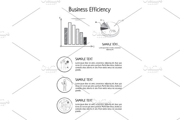 Business Efficiency Statistics Vector Illustration