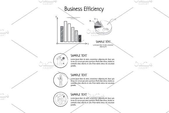 Business Efficiency Statistics Vector Illustration in Illustrations