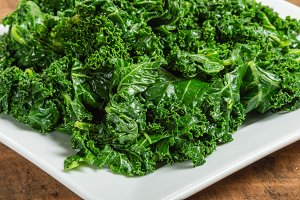 Fresh cooked kale