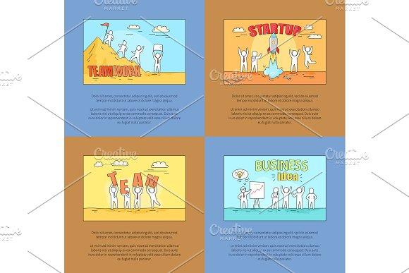 Teamwork and Startup, Business Vector Illustration