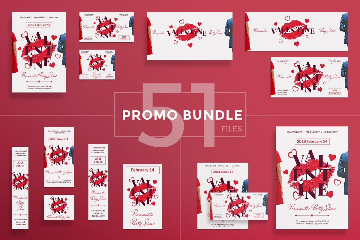 Promo Bundle | Valentine's Day Party in Templates - product preview 8
