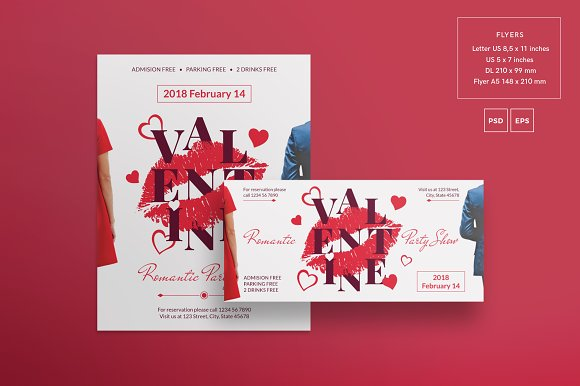 Promo Bundle | Valentine's Day Party in Templates - product preview 1