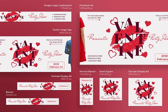 Promo Bundle | Valentine's Day Party in Templates - product preview 13