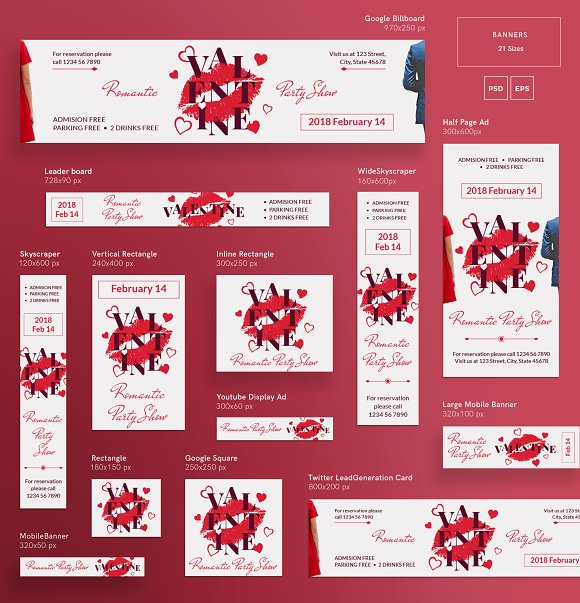 Promo Bundle | Valentine's Day Party in Templates - product preview 14
