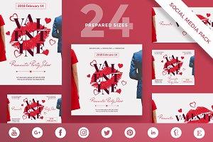 Social Media Pack | Valentine's Day