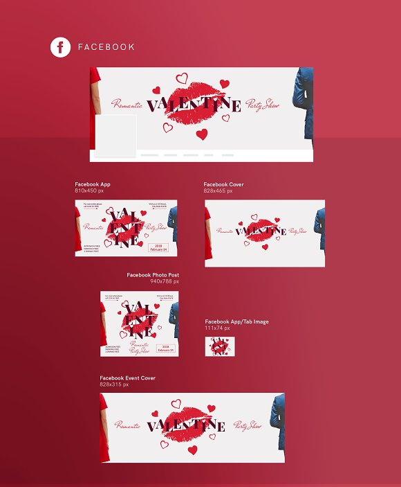 Social Media Pack | Valentine's Day in Social Media Templates - product preview 3