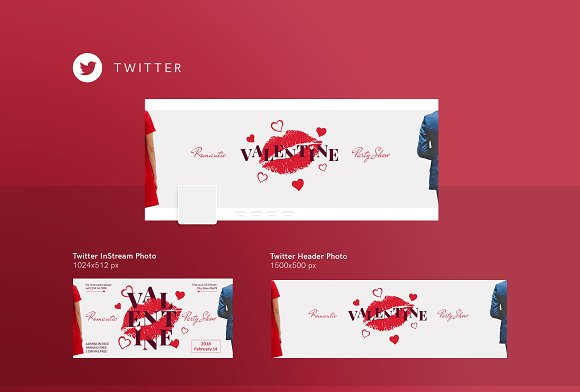 Social Media Pack | Valentine's Day in Social Media Templates - product preview 4