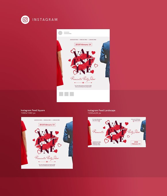 Social Media Pack | Valentine's Day in Social Media Templates - product preview 7