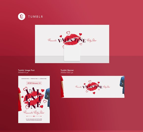 Social Media Pack | Valentine's Day in Social Media Templates - product preview 9